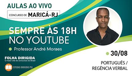 Concurso Maricá-RJ: confira agora aula ao vivo de Português