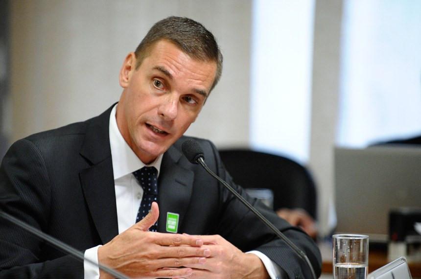 André Brandão toma posse e favorece concurso Banco do Brasil (Foto: Edilson Rodrigues/Agência Senado)