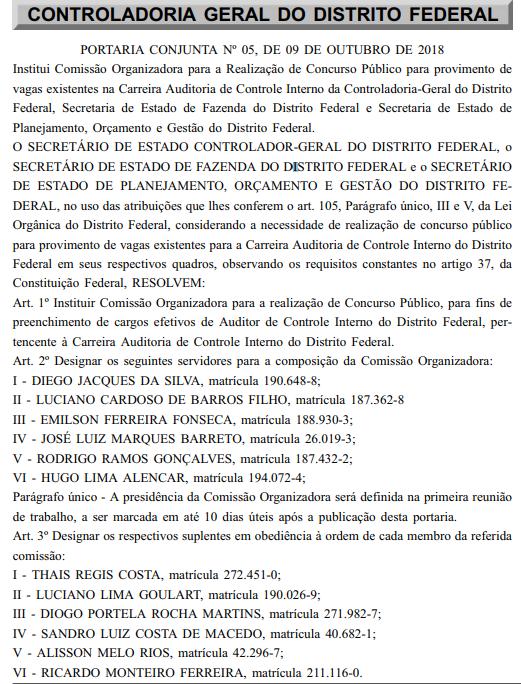 Concurso CGDF (Reprodução)