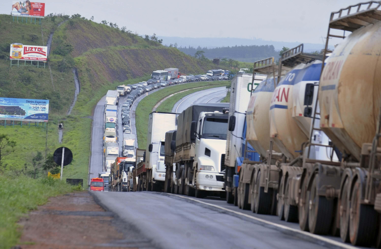 Greve caminhão (Foto: Agência Brasil)