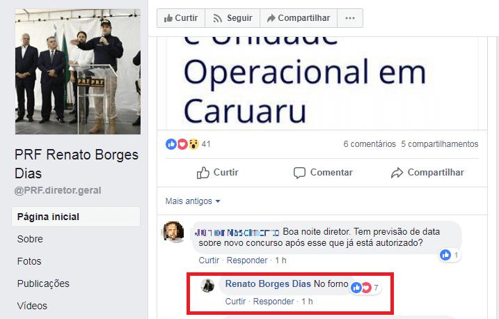 """""""No forno"""", diz diretor-geral da PRF sobre edital do concurso"""