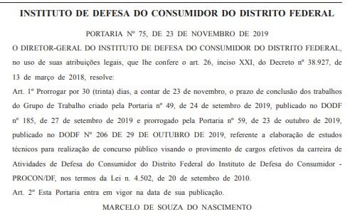Reprodução Diário Oficial