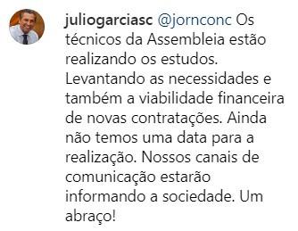 Reprodução Instagram Julio Garcia