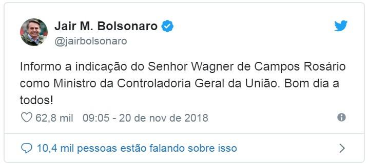 Reprodução Twitter Jair Bolsonaro