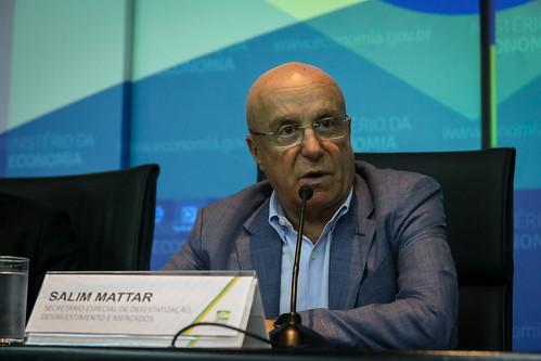 Salim Mattar nega privatização da Caixa, Petrobras e BB (Foto: Albino Oliveira/Ascom-ME)