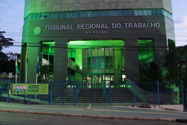 TRT14 abre concurso e oferece remuneração inicial de R$11.006,83. (Foto: TRT14)