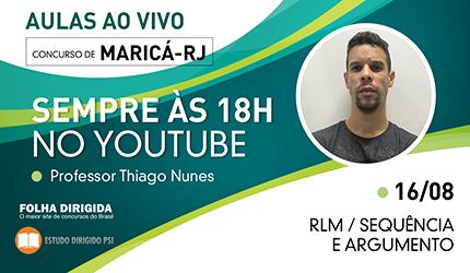 Concurso Maricá-RJ: assista aula de Raciocínio Lógico nesta quinta, 16