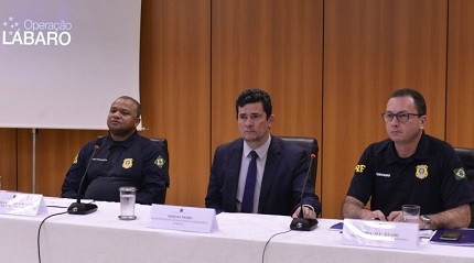 Moro fala em coletiva sobre chamar mais aprovados da PRF (Foto: Agência PRF)
