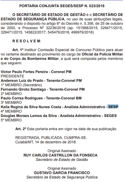 Comissão PM-MT