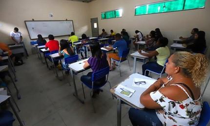 Primeiro dia de provas do concurso Marabá (Foto: Paulo Sérgio dos Santos/Ulisses Pompeu)