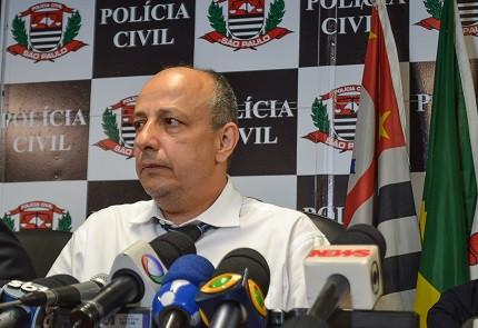 Delegado-geral de Polícia Civil de São Paulo concede entrevista coletiva