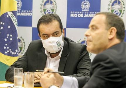 Governador do Rio de Janeiro, Cláudio Castro, e o secretário de Polícia Civil, Allan Turnowski
