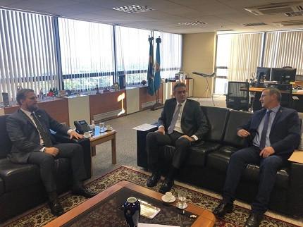 Reunião entre Fenapef e direção geral da PF conta com presença do deputado Ubiratan Sanderson (PSL-RS)