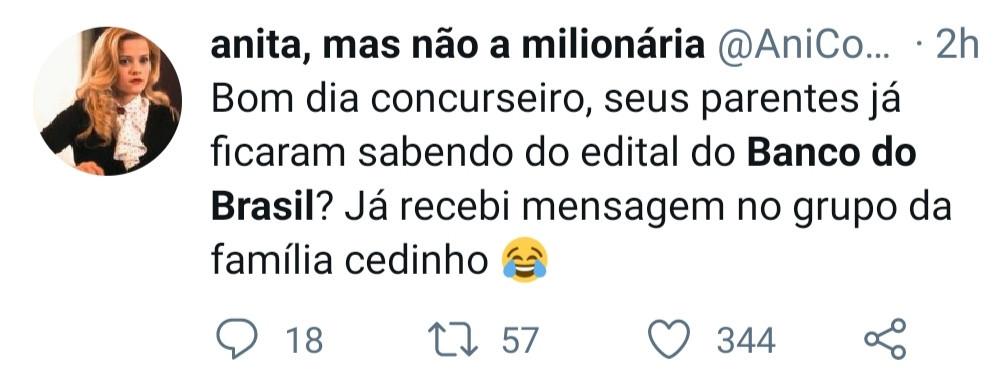 Tweet banco do brasil