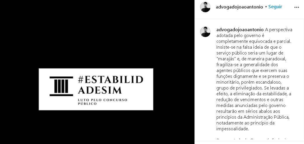 reforma administrativa instagram