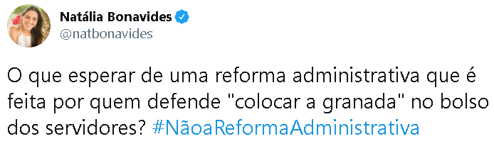 reforma administrativa no twitter