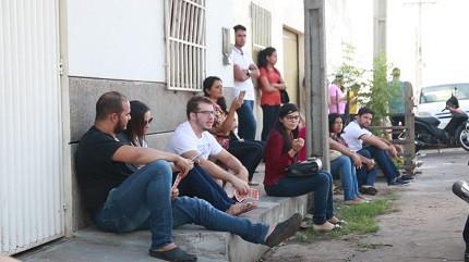 Candidatos do concurso Caxias-MA compareceram em peso no primeiro dia de provas. (Foto: Divulgação/Prefeitura de Caxias-MA)