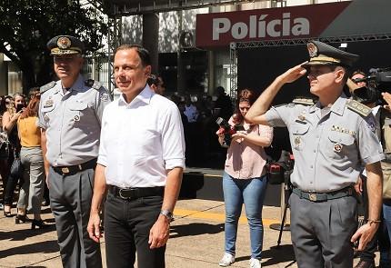 Durante evento, Doria promete melhores salários nas polícias (Foto: Governo de São Paulo)