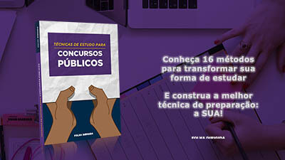 Download do e-book Técnicas de Estudo para Concursos